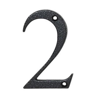 76mm Numeral - 2 - Antique Black Iron