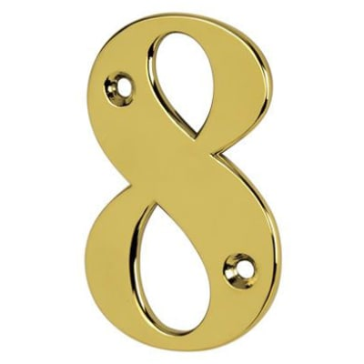 76mm Numeral - 8 - Gold