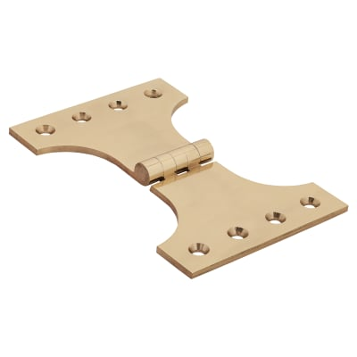Jedo Heavy Parliament Hinge - 102 x 102 x 152mm - Polished Brass - Pair