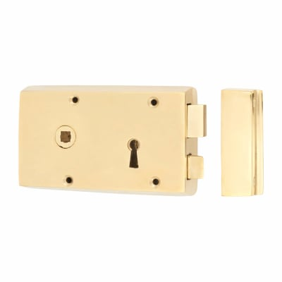Rim Lock - Left Hand - Solid Brass