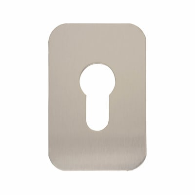 Jumbo Adhesive Fixing Escutcheon - 75 x 50mm - Euro - Satin Stainless Steel