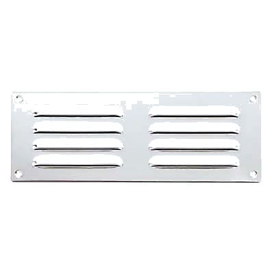 Hooded Louvre Vent - 242 x 242mm - 11919mm2 Free Air Flow - Polished Stainless