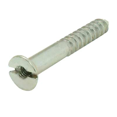 Steel Mirror Screw - 8 x 1 1/4