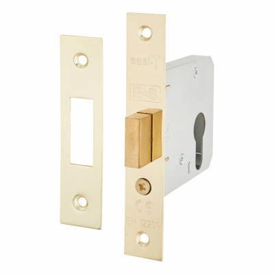 Project Contract Euro Profile Deadlock - 76mm Case - 57mm Backset - Electro Brass
