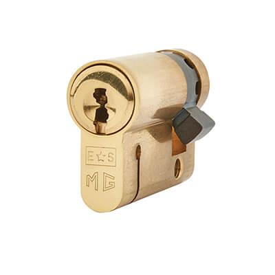 Eurospec MP15 - Euro Single Cylinder - 35 + 10mm - Polished Brass  - Keyed Alike