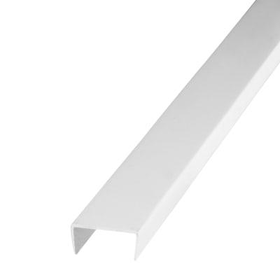 1000mm Channel - 10 x 21 x 1mm - White Plastic