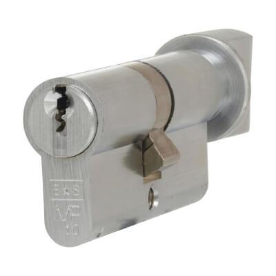 Eurospec MP10 - Euro Cylinder and Turn - 32[k] + 32mm - Satin Chrome  - Master Keyed