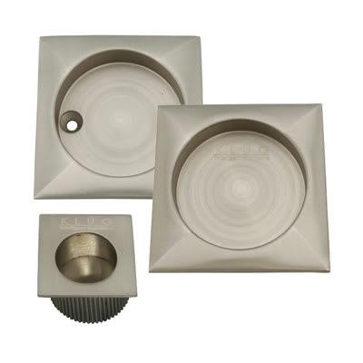 KLÜG Square 3 Piece Flush Handle Set - Satin Nickel