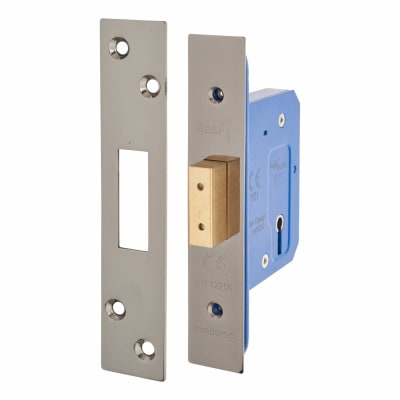A-Spec Architectural 3 Lever Deadlock - 65mm Case - 44mm Backset - Black Nickel