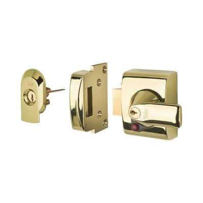 Yale® PBS2 BS3621:2007 Nightlatch - 40mm Backset - Polished Brass