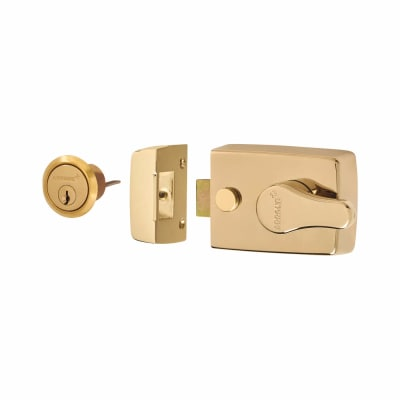 Arrone® Nightlatch - 60mm Backset - Polished Brass Case/Cylinder