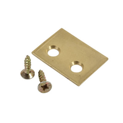 Rola Sash Stop Plate - 25 x 18mm - Brass