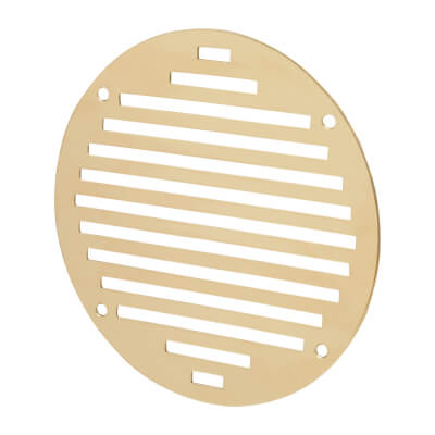 Circular Slotted Vent - 152mm - 6212mm2 Free Air Flow - Polished Brass