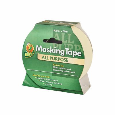 Duck Tape All Purpose Masking Tape - 50mm x 50m - Beige