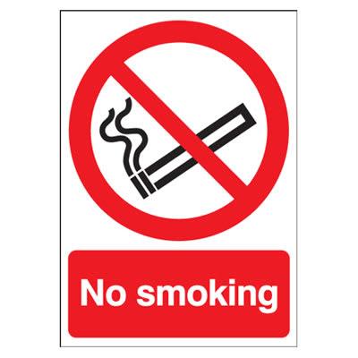 No Smoking - 210 x 148mm - Self Adhesive Vinyl