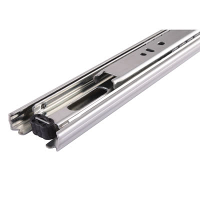 Motion 35mm Ball Bearing Drawer Runner - Double Extension - 25kg - 350mm - Zinc