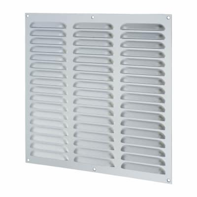 Hooded Louvre Vent - 305 x 305mm - 19869mm2 Free Air Flow - Satin Aluminium