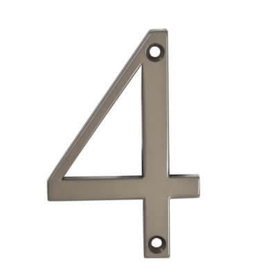 76mm Numeral - 4 - Satin Bronze