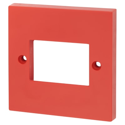 Click Scolmore Single Switch Plate 3 Aperture - Red