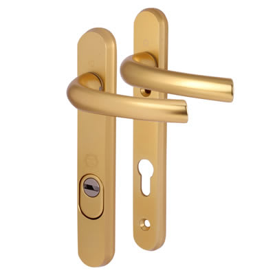 Hoppe Tokyo PAS 24 Multipoint Handle - uPVC/Timber - 92mm centres - 60mm door thickness - Gold