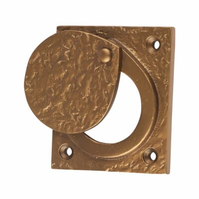 Olde Forge Cylinder Latch Cover - 67 x 58mm - Antique Bronze