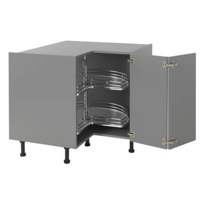 3/4 Carousel Plus - Suit 900 x 900mm L Config Corner Base Unit