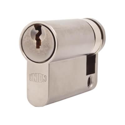 UNION® J2X20 Cylinder - Euro Single - 45mm - Satin Chrome