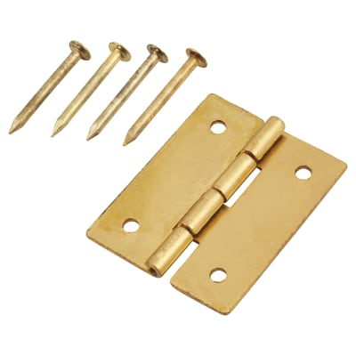 Mini Solid Brass Hinge - 19 x 15mm - Satin Brass - Pack of 5 pairs