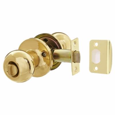 Touchpoint Bala Hotel Knobset - Bathroom - Polished Brass