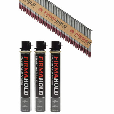 TIMco 34° FirmaHold Clipped Head Nail and Gas - First Fix - 2.8 x 50mm - HDGV - 3 Fuel Cells