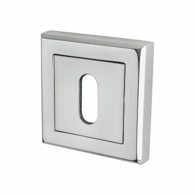 Morello Square Escutcheon - Keyhole - Polished Chrome