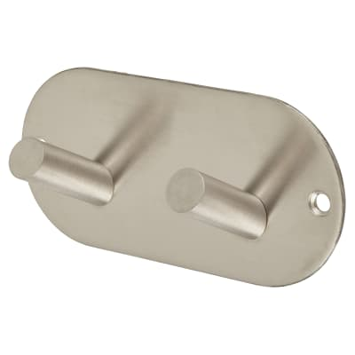 Jedo Radius Horizontal Hook Plate - 94 x 46mm - Satin Stainless Steel