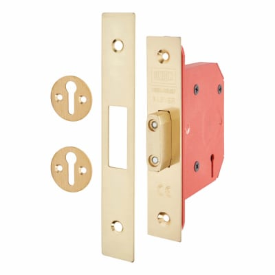 UNION® 2103S StrongBOLT 3 Lever Deadlock - 68mm Case - 45mm Backset - Brass