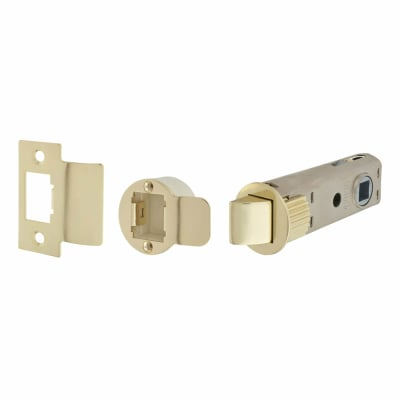 UNION JFL26 FastLatch Tubular Push-Fit Latch - 73mm Case - 57mm Backset - Polished Brass
