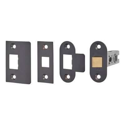 Project Contract Bolt Through Tubular Latch - 67mm Case - 46mm Backset - Black