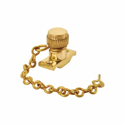 Acorn Sash Stop on Chain - 32mm - Polished Brass