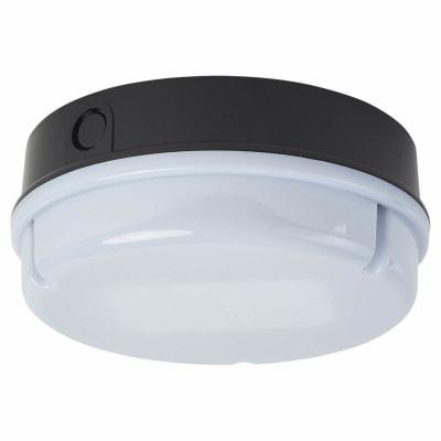 16W 2D Round Screw Drum Bulkhead Light - IP65 - Black Opal