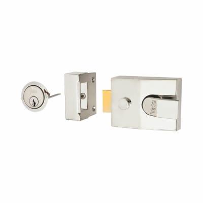 Yale® 89 Double Locking Nightlatch - 60mm Backset - Polished Chrome Case/Cylinder