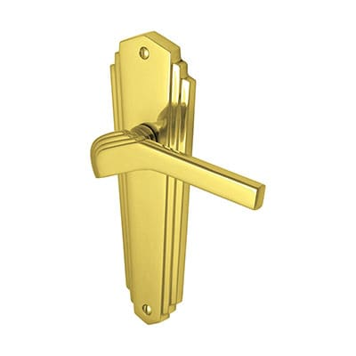 M Marcus Waldorf Door Handle - Latch Set - Polished Brass
