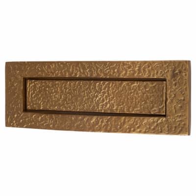 Olde Forge Plain Letter Plate - 254 x 90mm - Antique Bronze