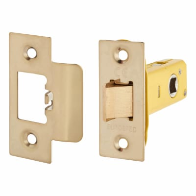 Altro Heavy Duty Tubular Latch - 65mm Case - 44mm Backset - PVD Brass