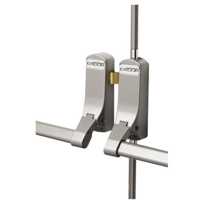 Exidor 285 Rebated Double Door Panic Bar Set - Metal Door