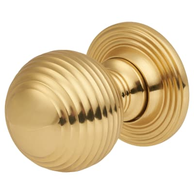 Touchpoint Reeded Cabinet Knob - 25mm - Polished Brass