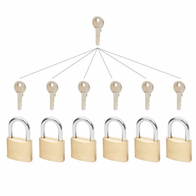 Group of Master Keyed Padlocks - 40mm - Set 12
