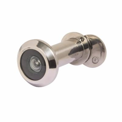 Steelworx SWE1000 Door Viewer Stainless Steel 180 Deg - With Crystal Lens - Polished Stainless