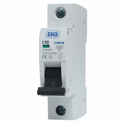 BG 50A Single Pole MCB - Type C