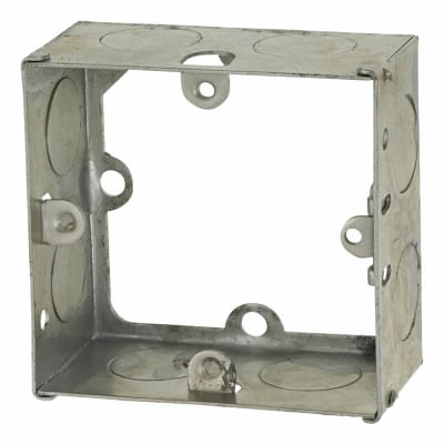 Greenbrook 1 Gang Knockout Flush Extension Box - 35mm - Galvanised