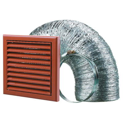 Blauberg Cooker Hood Duct Vent Kit Fan Extract - 125mm - Terracotta