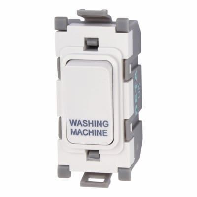 Deta 20A Printed Grid Switch - Washing Machine - White