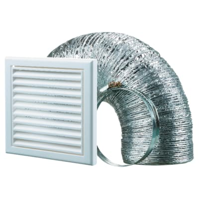 Blauberg Cooker Hood Duct Vent Kit Fan Extract - 125mm - White